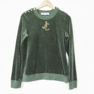 Juicy Couture Velour Pullover with Gold Details